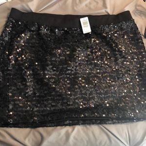 TORRID black sequin skirt